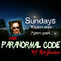 The Paranormal Code with Rich Giordano listen live